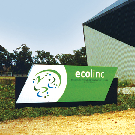 ecolinc: Entrance sign