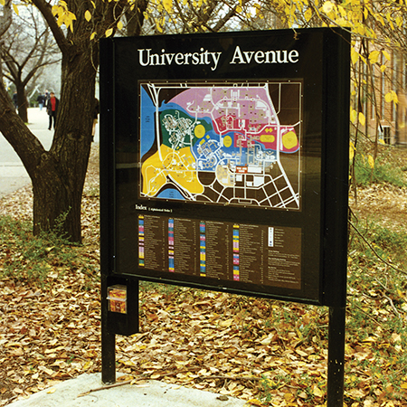 Information sign: Australian National University