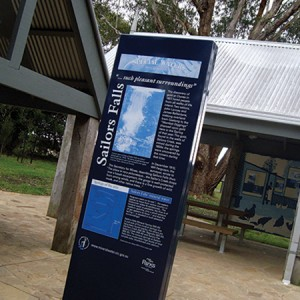 Interpretive signage: Victorian Mineral Water